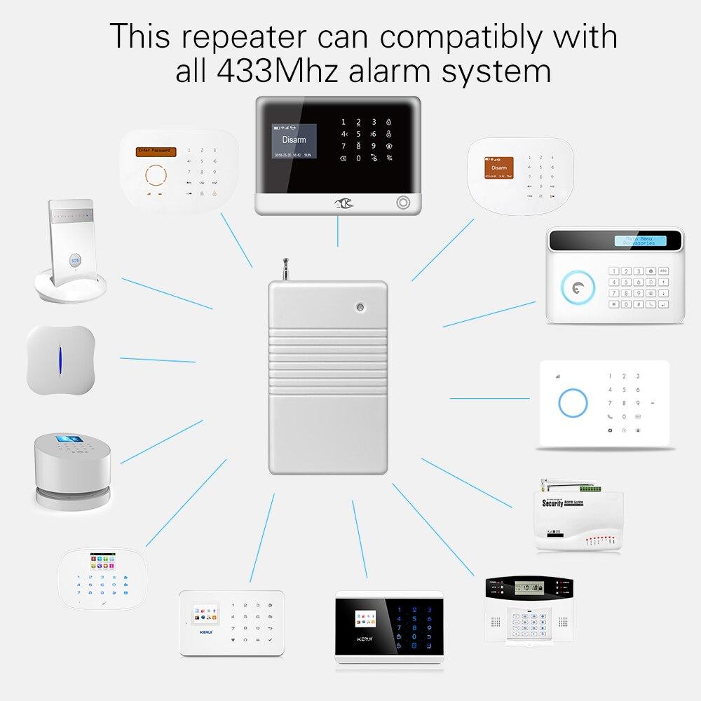 433 MHz Extensor Expansor De Sinal Repetidor de Sinal do Transmissor Sem Fio Para Sistema de Alarme Home Security H6