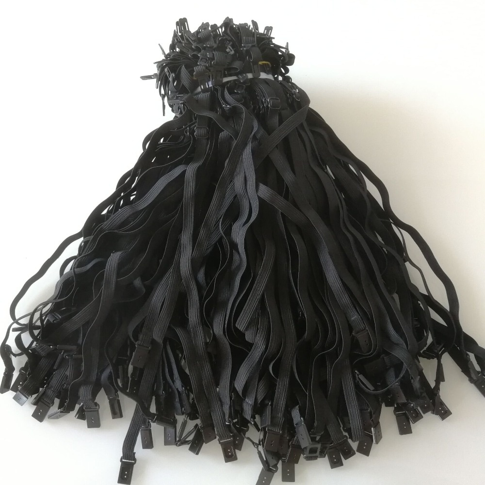 100PCS DIY 1cm Bow Tie Accessories For Adult Child Men Women Wedding Necktie Adjustment Bowtie Elastic Band Rope Strap Max 50cm