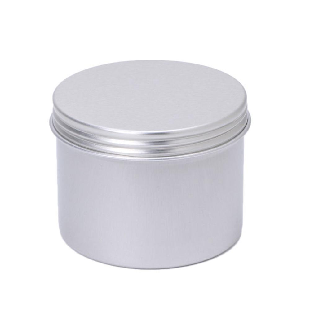 180ML Aluminium Empty Cosmetic Pot Jar Tin Container Silver Box Screw Lid Craft Home Office Storage Sorting Organizer Hot #X