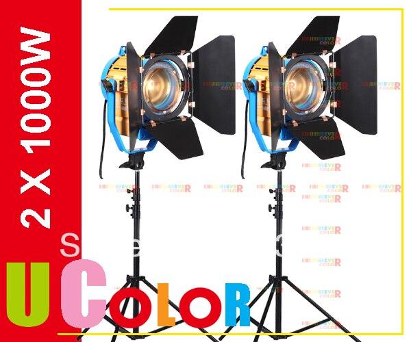 Fresnel de Tungstênio Iluminação + Suporte Light com 3200 Estúdio Spot k – 5500 Filtro Dicróico 2 x 1000 w Led