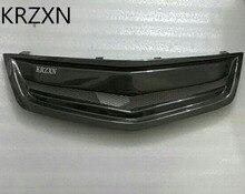 Calandre noire en fiber de carbone autour des garnitures de grilles de course pour Honda Accord EURO MK8 Spirior 2009-2012