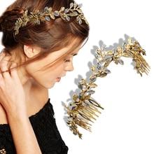 Mariée romaine 3D papillon couronne guirlande cheveux tête pince peigne couronne robe Alice Band mariée mariée mariage bijoux