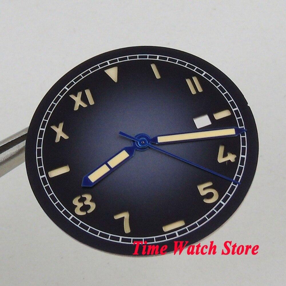 36,1mm azul Logotipo no abertura para fecha California esfera del reloj fit MIYOTA 8215 821A Mingzhu 2813 movimiento Dial + D127