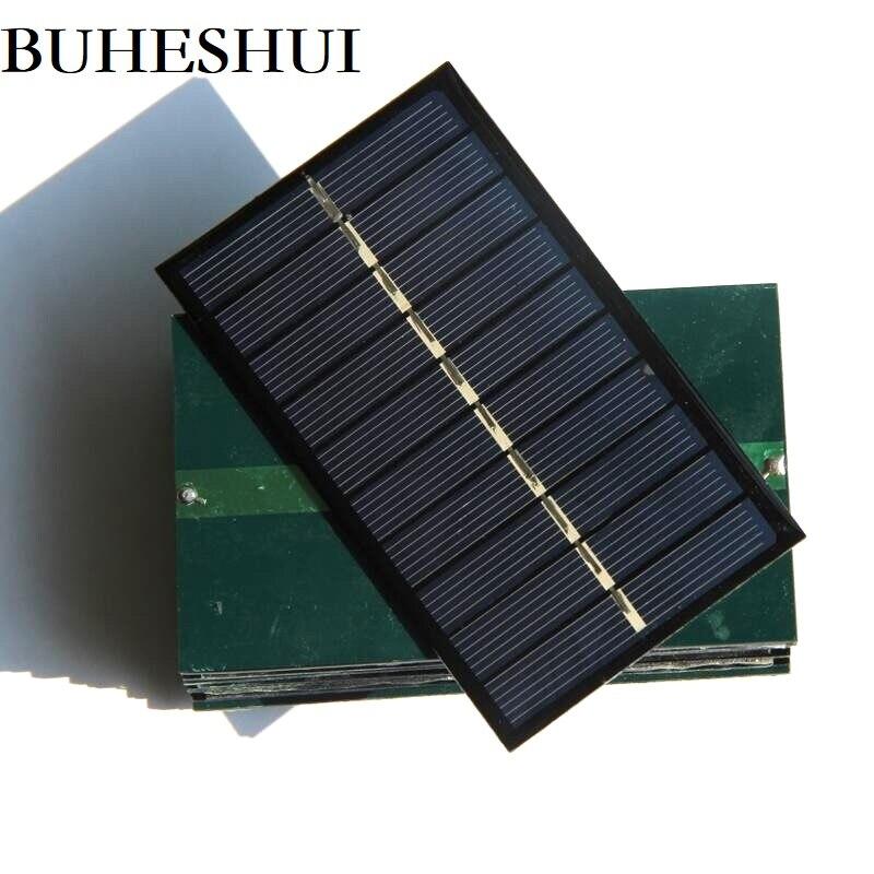 BUHESHUI 5V 150MA Solar Panel Solar celular DIY cargador de batería Solar para 3,7 V 100*60MM epoxi policristalino venta al por mayor 500 Uds