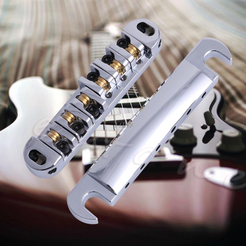 Montura de rodillo de latón puente de guitarra thone-o-matic y conjunto de cola Chrome JUL20_25