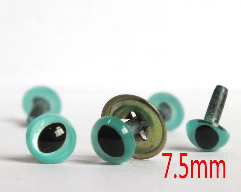 60 шт./лот 7,5 мм безопасные кошачьи глаза Фантазийного синего цвета для валяной шерстяной куклы