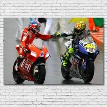 Ducati sportbike 오토바이 레이싱 스포츠 벽 아트 포스터 canvas prints 거실 장식을위한 아트 페인팅