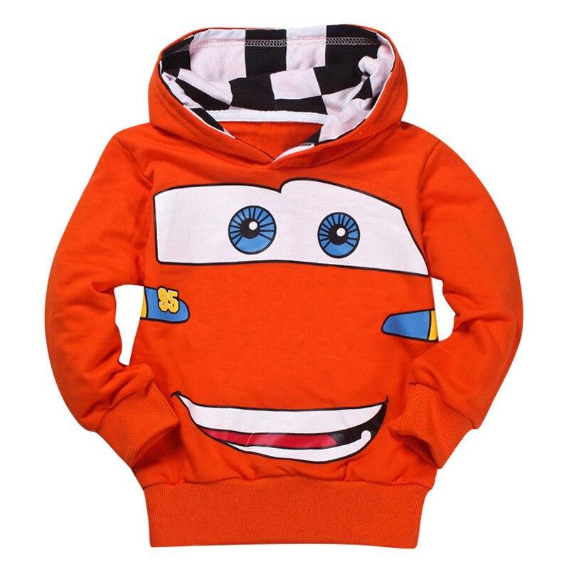 Nueva ropa para niños, ropa para bebés de moda con dibujo de coche, Abrigo con capucha para niños, ropa de algodón para primavera y otoño de 3 a 7 años