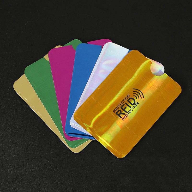AliExpress - 7Pcs Anti Rfid Wallet Blocking Reader Lock Bank Card Holder Id Bank Card Case Protection Metal Credit NFC Holder Aluminium