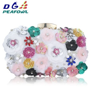 New Color Crystal Evening Day Clutches Flower Wedding Bags Evening Bag Full Dress Party Handbag Bride Bag Purse Lady Gift