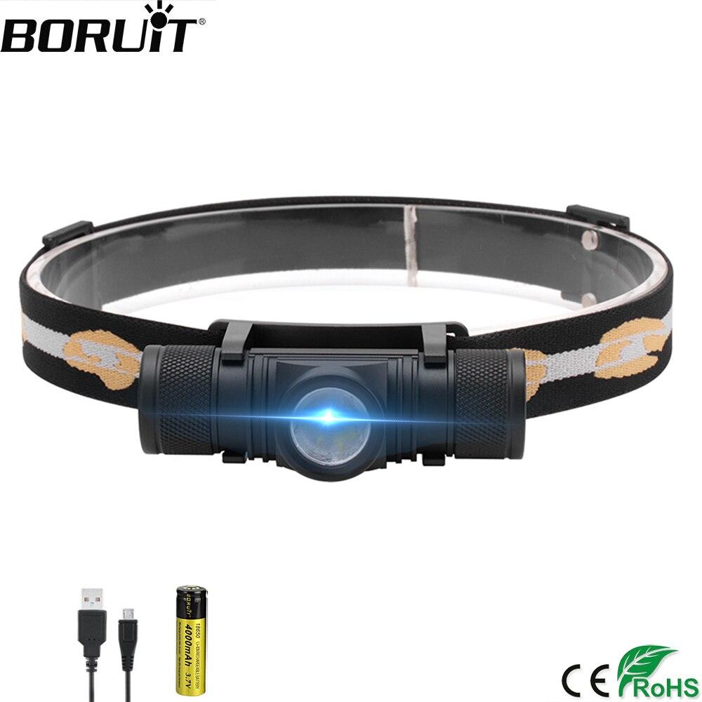 BORUiT D10 3000 люмен XM-L2 светодиодный налобный фонарь USB перезаряжаемая велосипедная фара 18650 налобный фонарик светодиодные фары для кемпинга рыбалки велофонарь
