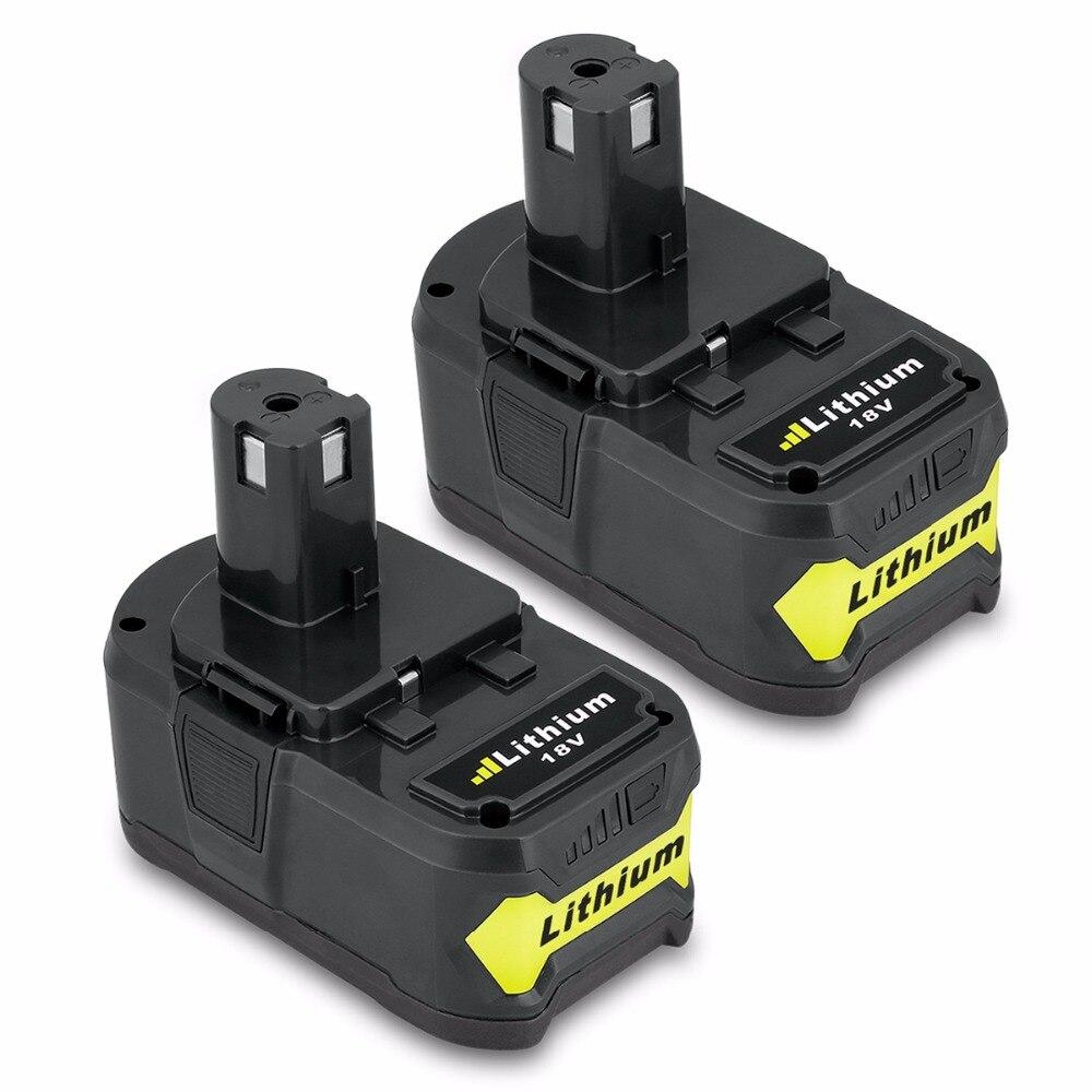 2 uds nuevo para Ryobi 18V 4000mAh P108 RB18L40 Ion Litio de alta capacidad recargable herramientas eléctricas batería Ryobi ONE +