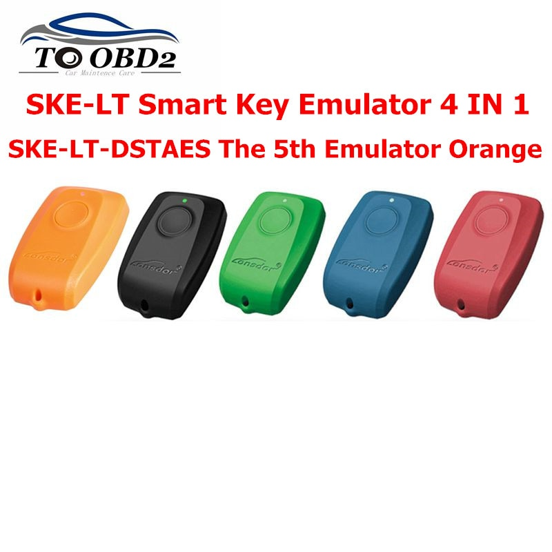 Emulador de llave inteligente Lonsdor K518ISE SKE-LT 4 en 1 Plus K518ISE SKE-LT-DSTAES naranja para Toyota y para el emulador de llave de Lexus Chip 128bit