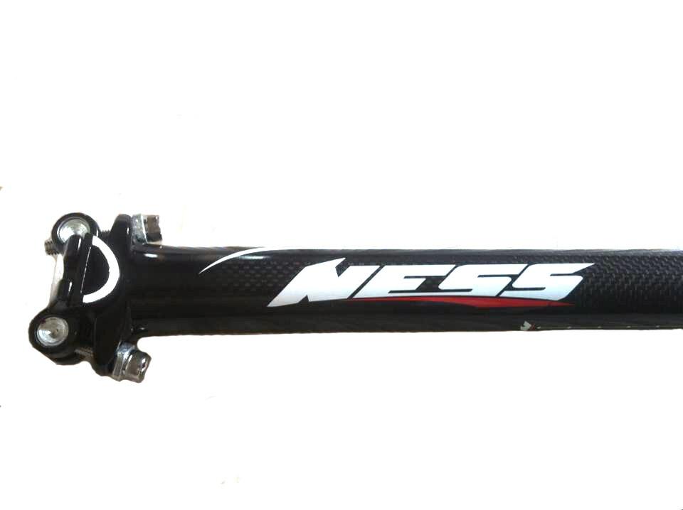 Nuevo NESS partes de bicicleta de carbono, aleación de aluminio, doble junta con clavo, asiento, tubo blanco