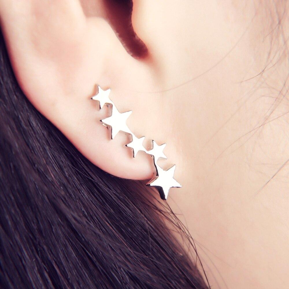 Lua estrela orelha alpinista minúsculo estrela lua brincos para mulheres adolescente celestial presente de aniversário jóias brinco nova chegada