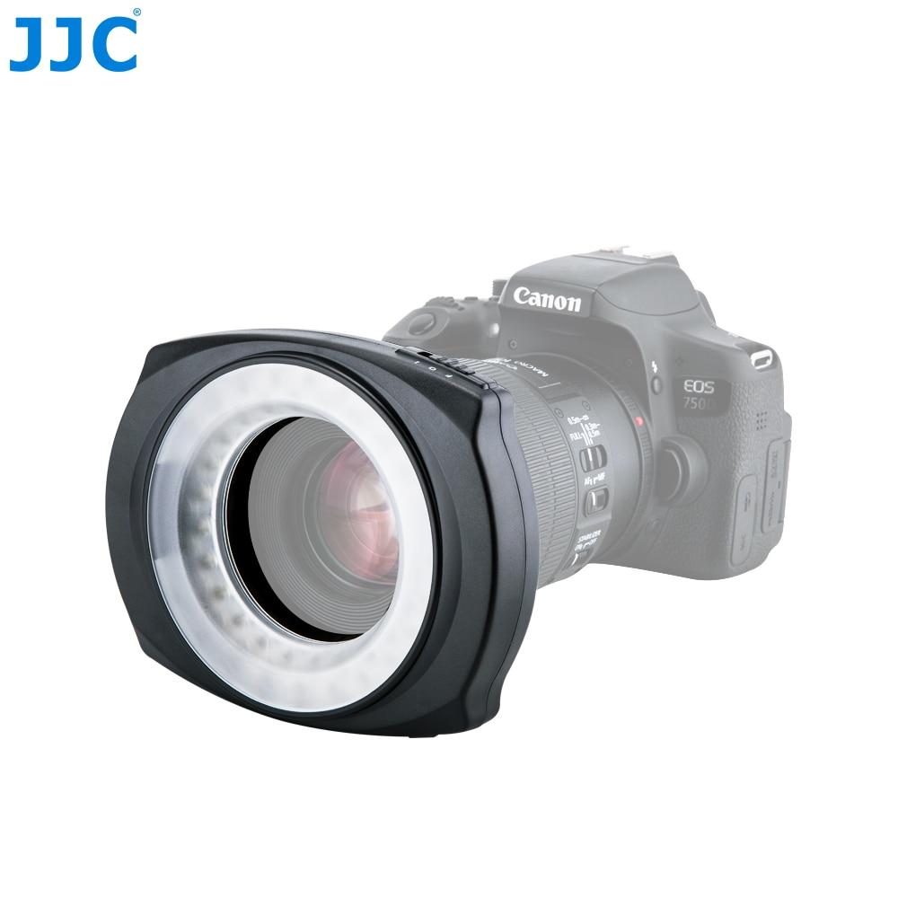 JJC DSLR Cámara Flash Video Speedlite dentro/fuera medio/todo LED Macro anillo de luz para NIKON/CANON/SONY/Olymous/Panasonic