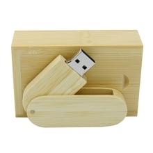 Swivel Wooden USB Flash Drive 16GB 64GB 128GB 256GB 512GB Usb 32GB Memory Pen Drive Thumb Drive 2.0 Stick Creativo Bamboo Gift