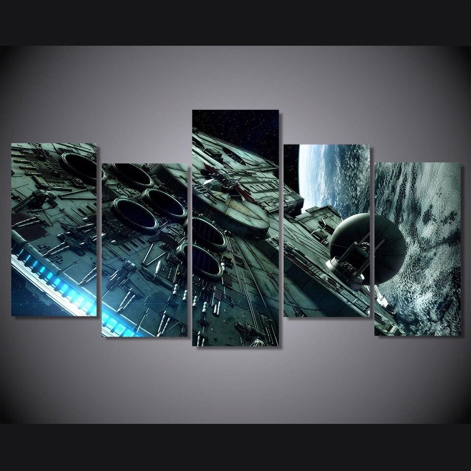 HD Pintura Da Lona de Impressão Impresso star wars millennium falcon room decor impressão imagem do cartaz da lona Frete grátis/DC1-100 (36)