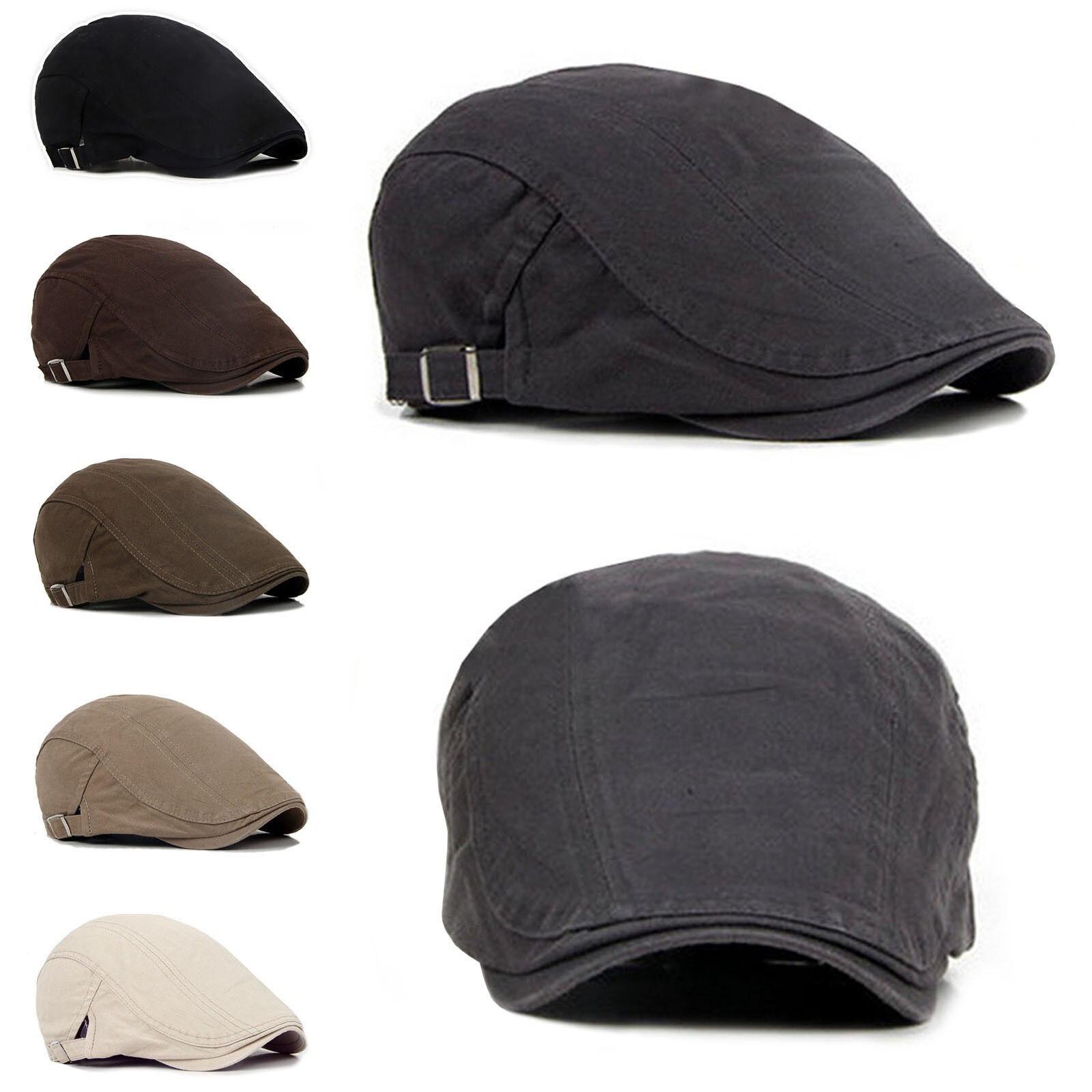 Chapéu tipo gatsby para homens, chapéu estilo golfe, boina de condutor