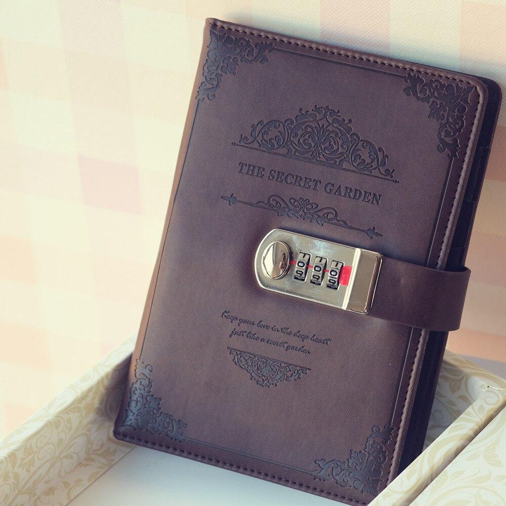 2020 rétro Vintage carnet mot de passe planificateur de livre bureau dame confidentialité Van Gogh Code livre Protection papeterie