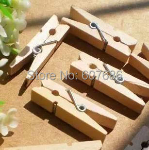 1000 Pieces Mini Wooden Clothespins Clothes Pins 3.5*0.7cm Natural Wood Spring Clip Pegs For Photo Paper Craft Toy Free Shipping