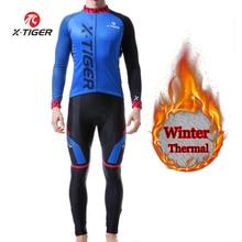 X-tiger hiver thermique cyclisme Jersey ensembles VTT vêtements De cyclisme vélo cyclisme vêtements Roupa De Ciclismo Invierno