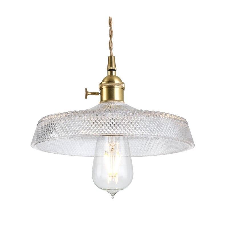 Lámpara colgante de cristal tallada original de Shanghai, lámpara colgante Retro E27 con personalidad nórdica para Cafetería Restaurante Bar Hotel