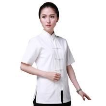 7 couleurs Kungfu chemise à manches courtes chinois traditionnel coton vêtements Tang Costume Top Taiji Wushu Costume pour les femmes