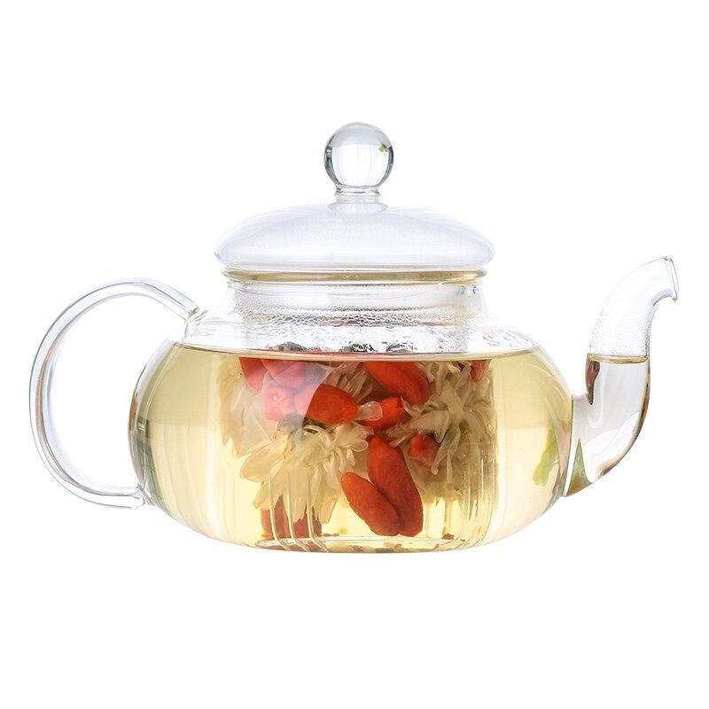 1 قطعة البورسليكات الزجاج الشاي وعاء مكتب زهرة إبريق الشاي مع مرشح الزجاج مباشرة التدفئة الكونغفو-الشاي غلاية