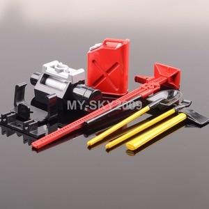 Red Winch Shovel Oiler Jack Hatchet For 1:10 RC Truck SCX10 CC01 AX10 Rock Crawler TRAXXAS AXIAL Racing