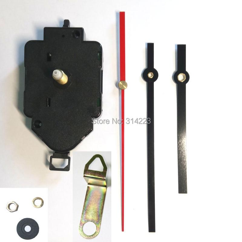 Freies verschiffen hochwertige 12888 Quarz Pendeluhr Bewegung Kit Spindel-mechanismus welle 16mm Jump sekunden tick geräusch mechanismus