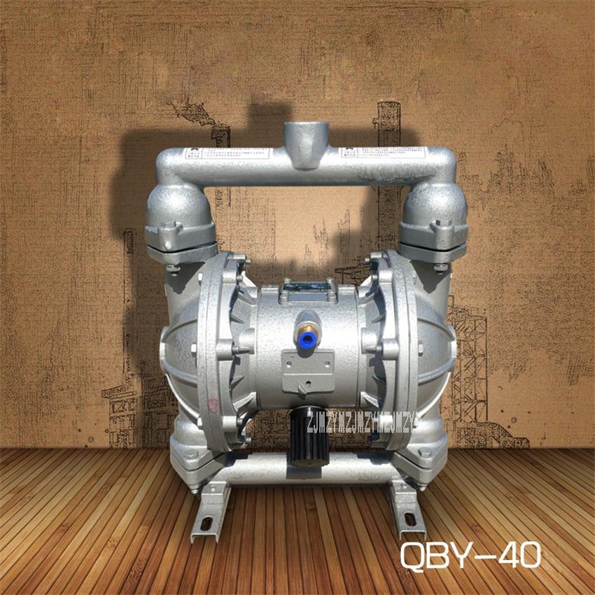 Bomba de diafragma neumática Industrial de nitrilo de aleación de aluminio QBY-40, utilizada en inflamables, volátiles, altamente tóxicos y en otras ocasiones