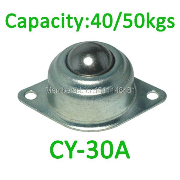 Envío Gratis, unidad de transferencia de bolas de CY-30A, 4 unids/lote, capacidad de carga de 40kgs/50kgs, rodamiento de bolas de CY30A