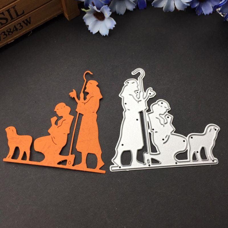 Embossing die  1Set Faith Metal Cutting Dies Stencil DIY Scrapbooking Album Stamp Paper Card Embossing Crafts Decor
