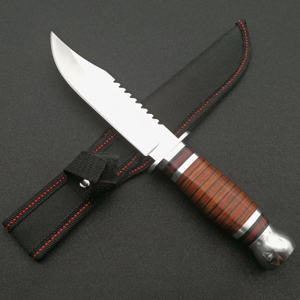 Cuchilla fija de acero 5Cr13Mov duro Mengoing cuchillos de supervivencia al aire libre para senderismo Venta caliente