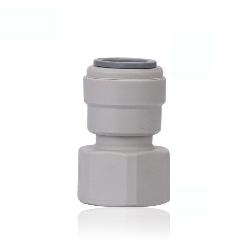 "1/2 ""NPT hilo femenino-1/2 OD para tubo de agua osmosis inversa rápido Conector recto apretado Cruce de doble sellado PE tubería"