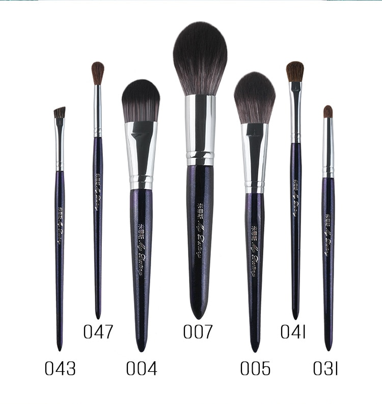 7 unids/set de brochas de maquillaje, base rubor en polvo, juego de brochas de maquillaje, brocha para sombra de ojos, brochas para Contorno de cejas, herramientas cosméticas