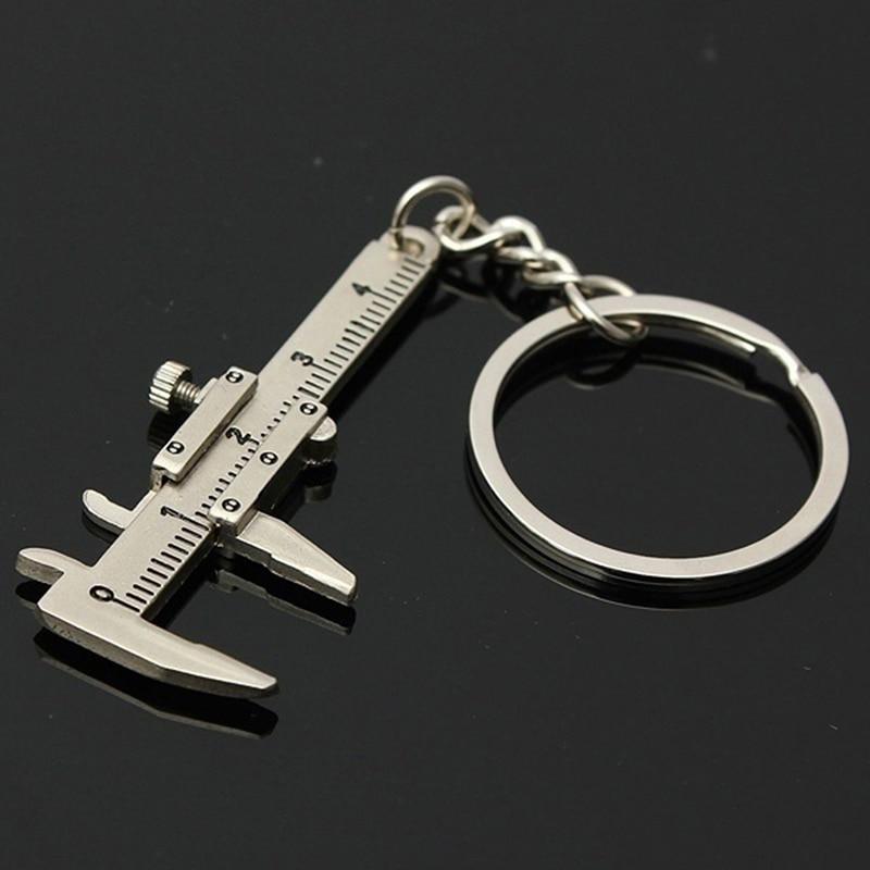 Nueva y creativa llave de coche de moda Mini llavero de Calibre Vernier llavero de coche venta al por mayor regalo de Navidad Dispositivo portátil
