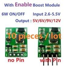 10 piezas multifunción con permiten interruptor/2,6-5,5 V a 5 V/6 V/ placa de módulo elevador convertidor DC 9 V/12 V