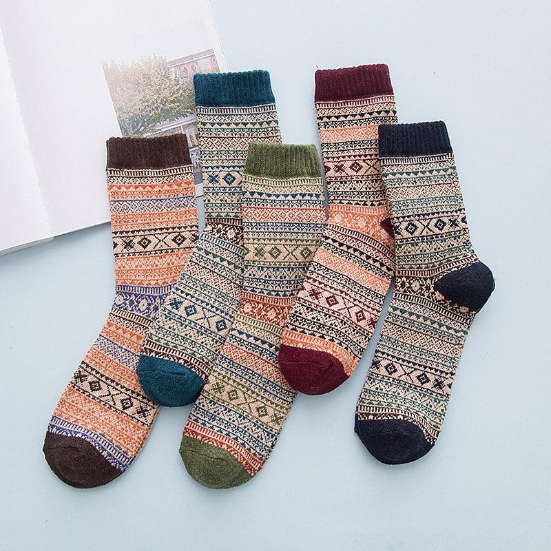 Зимние милые шерстяные 3D мужские носки, теплые рождественские носки с животными, горячая Распродажа, мужские шерстяные носки для женщин, бы...
