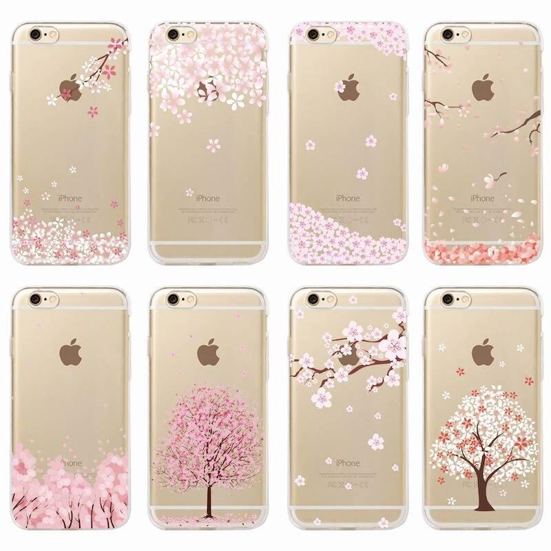 Мягкий чехол для iPhone 11 Pro 6 6S 7 7Plus 8 8Plus X XS Max с рисунком вишен, цветов персика, кота, романтичных девушек