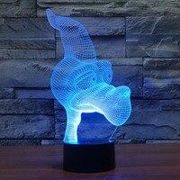 Free Shipping Cartoon pterosaur Night Light Red Blue Led Night Light 7 Colors changing China led night light manufacturers