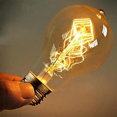 A19 E27 40W электрическая лампочка эдисона лампа светильник лампочка Винтаж нити Ретро промышленные лампы накаливания светильник 110/220V Бесплат...