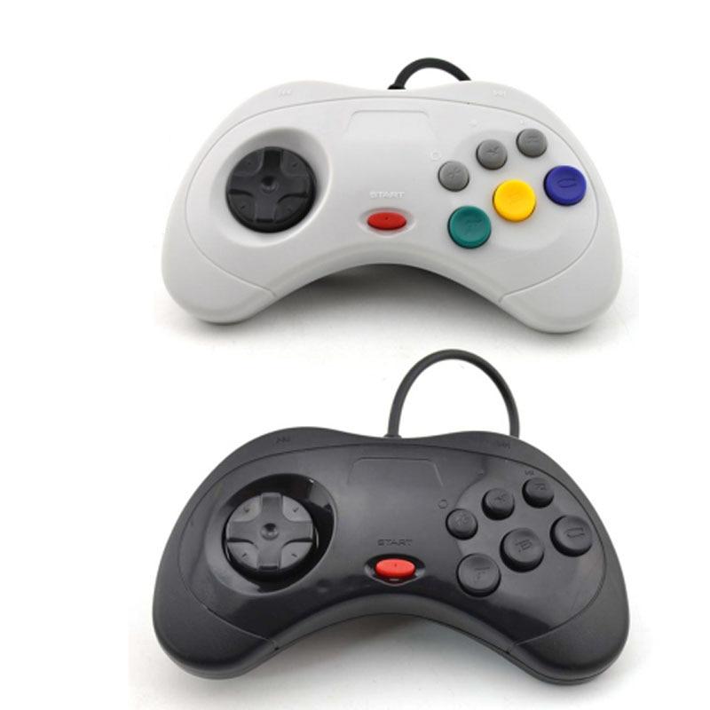 ViGRAND-2 uds. De mando para Sega Saturn, mando con cable USB, JoyPad...