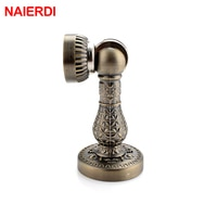 NAIERDI Bronze Retro Design Zinc Alloy Magnetic Door Stop Stopper Holder Catch Floor Fitting With Screws For Family Home Etc