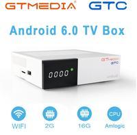Приемник GTmedia GTC для спутниковой связи, Женская Стандартная модель S905D, android 6,0, ТВ-приставка 2 Гб ОЗУ, 16 Гб ПЗУ, BT4.0, бесплатная доставка, GTC