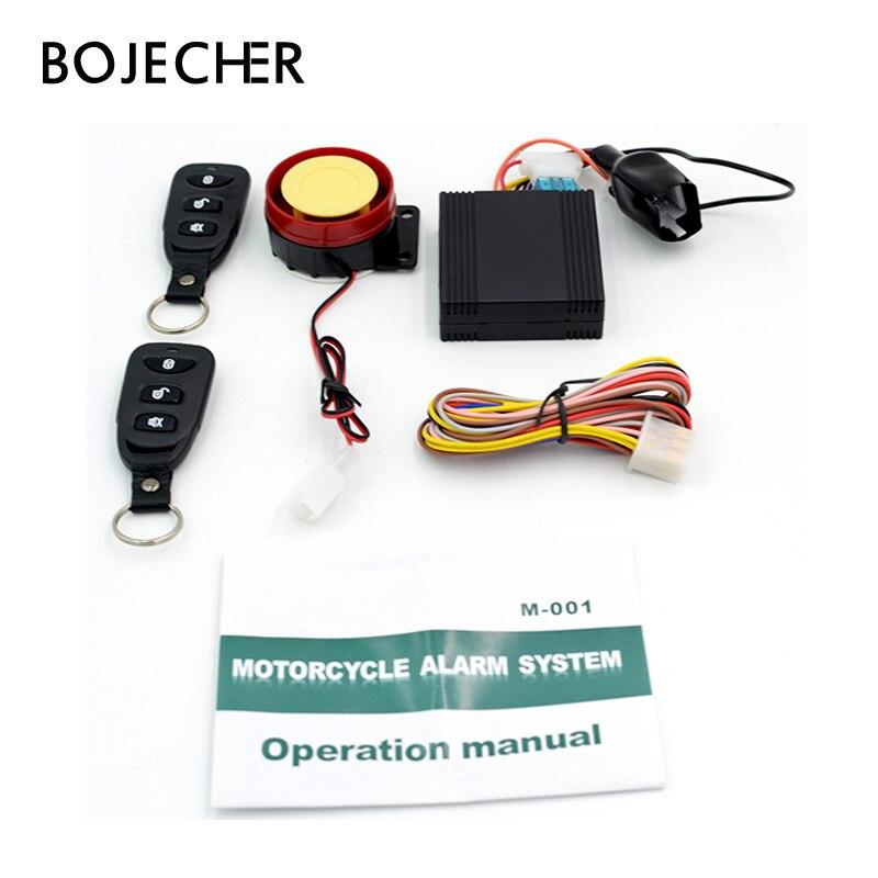 Sistema de alarma profesional para motocicleta, seguridad antirrobo para bicicleta, arranque remoto, vibración de conducción, resistente al agua y Control remoto bidireccional