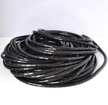 6mm 15 m/rollo de manguera cable de protección carcasa manguera cable línea de acabado con paquete fijo de cable transparente de protección viento