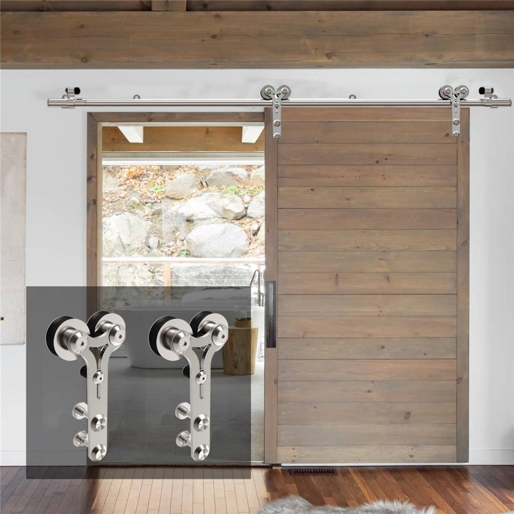LWZH серебряный современный нержавеющий стальной дверной комплект для раздвижных дверей из дерева и стекла Y-образный 4-9,6 футов