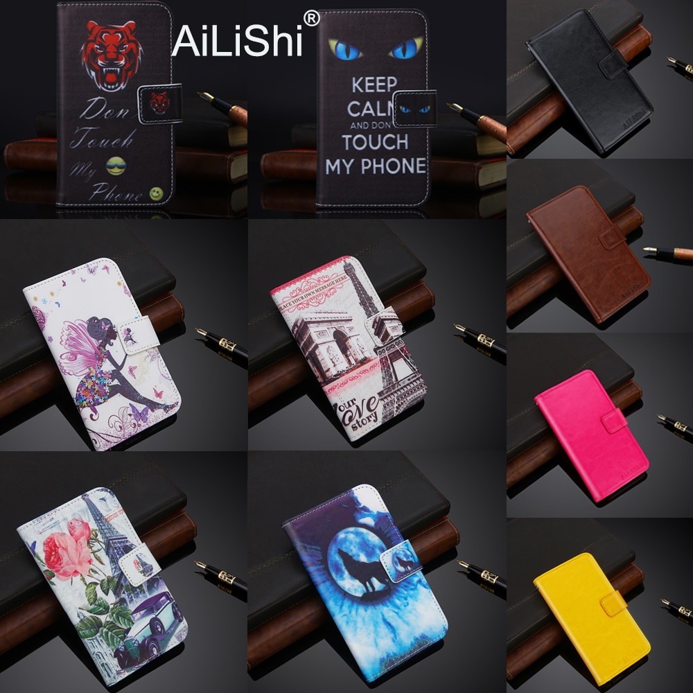 Funda ailishi para Gigaset GS280 GS160 GS100 GS270 GS370 Plus GS185 Me Pro GS180 Funda de cuero con tapa para teléfono con ranura para tarjeta